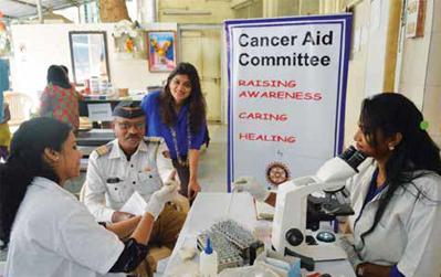 Cancer screening camp held at Nagpada police station