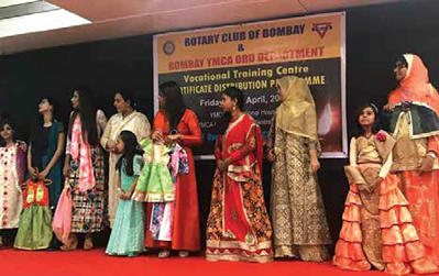 Rotary Club of Bombay & Bombay YMCA Vocational Training Centre - Certificate Distribution Programme
