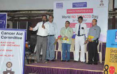 Cancer Aid Committee celebrates NO TOBACCO DAY